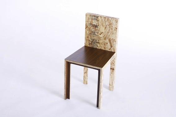 chaise plaquée Rucker